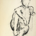 "Nude Form Charcoal on newsprint 18 1/2"" x 23 1/2"""