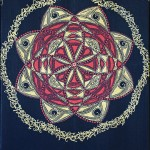 Mandala - Red Gold White