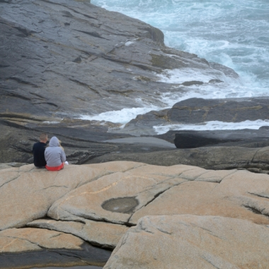 Peggy's Cove, waves on rocks, rocky shore