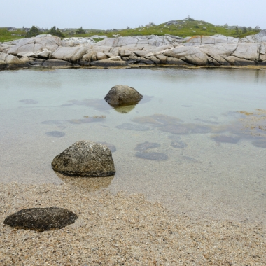 Peggy's Cove, inland pool, water, sand, rocks